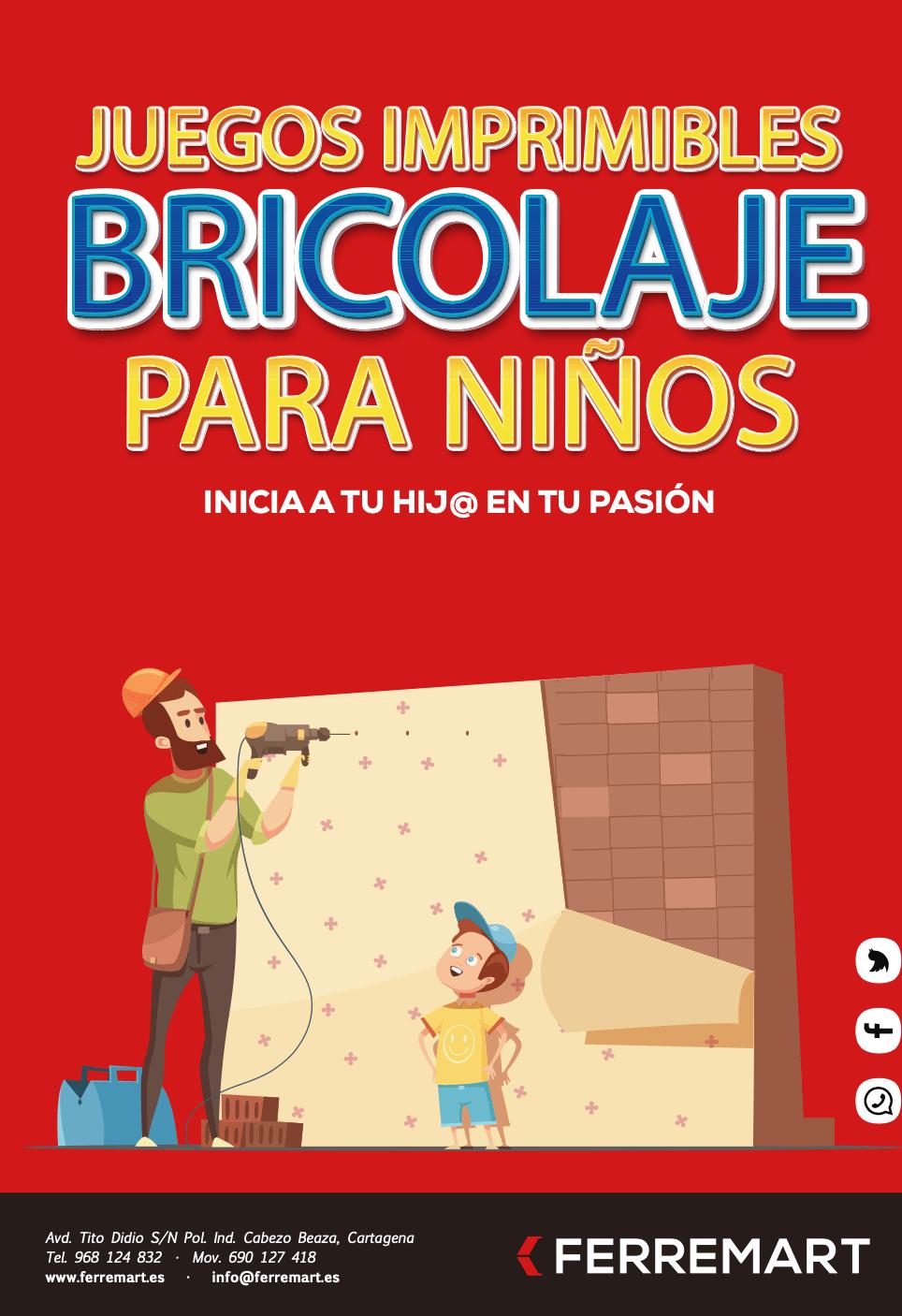 Juegos imprimibles para niños sobre Bricolaje.